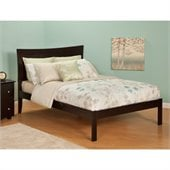 Atlantic Furniture Bed with Open Foot Rail in Espresso