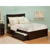 Atlantic Furniture Bed with Drawers in Espresso