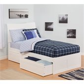 Atlantic Furniture Soho Bed with Drawers in White