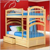 Atlantic Furniture Windsor Bunk Bed Twin Over Twin in Natural Maple