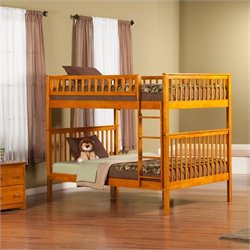Atlantic Furniture Woodland Bunkbed in Caramel Latte