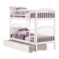 Atlantic Furniture Richland Bunk Twin over Twin with Trundle in White