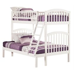 Atlantic Furniture Richland Bunk Twin over Full in White