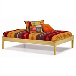Atlantic Furniture Concord Platform Bed with Trundle in Natural Maple