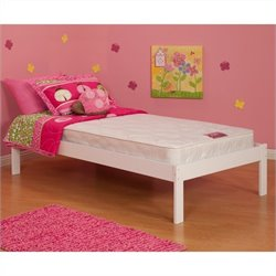 Atlantic Furniture Concord Platform Bed with Trundle in White