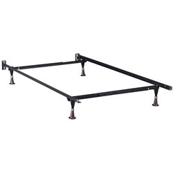 Atlantic Furniture Adjustable Premium Metal Bed Frame with Glides