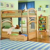 Atlantic Furniture Windsor Bunk Bed 2 Piece Bedroom Set with 2 Free Mattresses