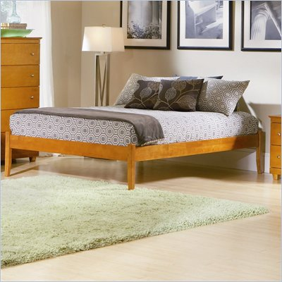 Atlantic Furniture Concord Wood Platform Bed with Open Footrail 3 Piece Bedroom Set