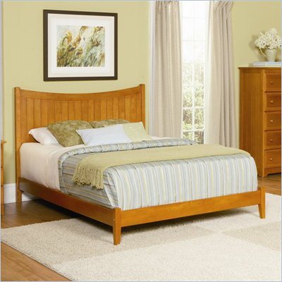Atlantic Furniture Manhattan Wood Platform Bed with Open Footrail 5 Piece Bedroom Set