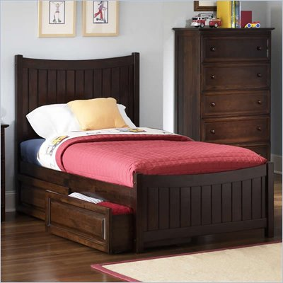 Atlantic Furniture Manhattan Platform Bed with Matching Footboard and Storage Drawer Set