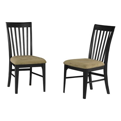 Atlantic Furniture Montreal Cappuccino Fabric Side Chair (Set of 2)