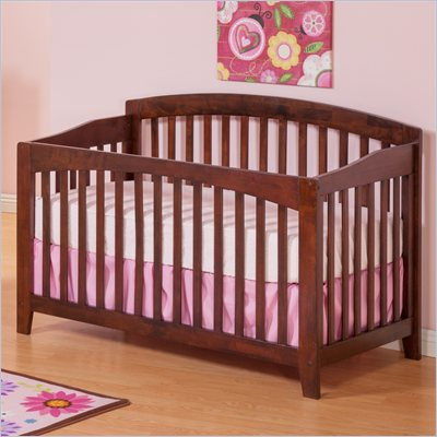 Atlantic Furniture Richmond Convertible Crib in an Antique Walnut Finish