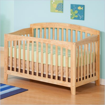 Atlantic Furniture Richmond Convertible Crib in a Natural Maple Finish