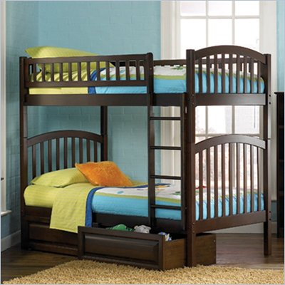Atlantic Furniture Richmond Bunk Bed 2 Piece Bedroom Set