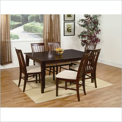 Atlantic Furniture Shaker Dining Table in Antique Walnut