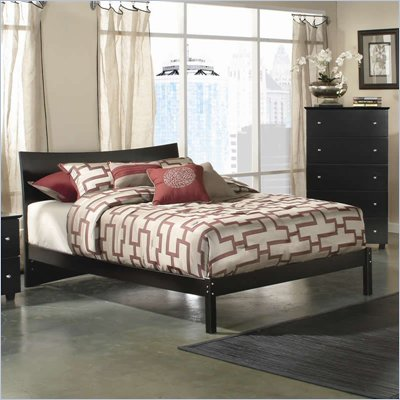 Atlantic Furniture Studio Soho Platform Bed with Open Footrail in Espresso