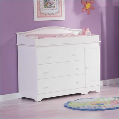 Atlantic Furniture Windsor 3 Drawer Changing Table in White