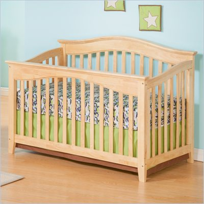 Atlantic Furniture Windsor Convertible Crib in a Natural Maple Finish