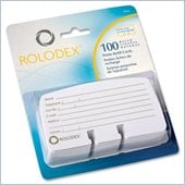Rolodex Petite List Finder Card Refill