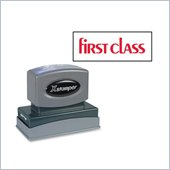 Xstamper Pre-Inked FIRST CLASS Message Stamp