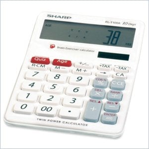 Sharp EL-T100AB Brain Exerciser Calculator