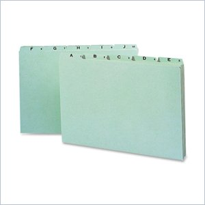 Smead A-Z Green Pressboard Self Tab File Guide