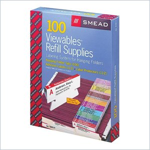 Smead Straight-Line Viewables Labeling System Refill Supplies Kit