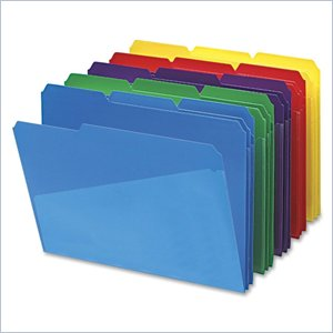 Smead Color Poly Slash Folder