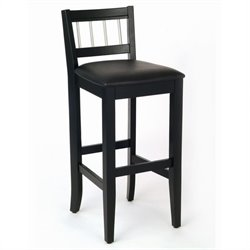 Home Styles Furniture Manhattan 30 Inch Pub Stool in Black