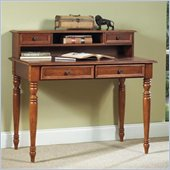 Home Styles Homestead Wood Laptop Writing Desk with Hutch in Distressed Warm Oak