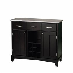Home Styles Furniture Large Steel Top Buffet in Black