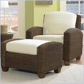 Home Styles Furniture Cabana Banana 2 Piece Set: Chair and Ottoman in Cocoa Finish