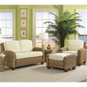Home Styles Furniture Cabana Banana 3 Piece Set: Chair, Ottoman, Love Seat in Honey finish
