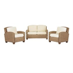 Home Styles Furniture Cabana Banana 3 Piece Set in Honey Finish