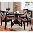 ADD TO YOUR SET: Home Styles Furniture Wood Casual Pedestal Dining Table in Black Finish