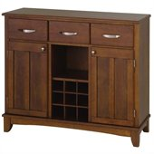 Home Styles Furniture Wood Top Buffet in Cherry