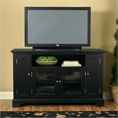 Home Styles Furniture Bedford Wood LCD/Plasma TV Stand in Ebony Finish