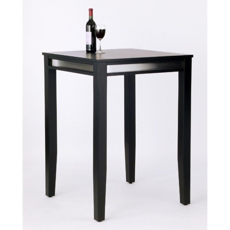 Manhattan Solid Wood Bar Height Pub Table In Black 5123 35