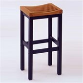 Home Styles Furniture Solid Hardwood 24 Bar Stool in Black and Cottage Oak