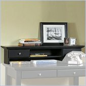 Home Styles Furniture Bedford Solid Wood Student Desk Hutch in Ebony Finish