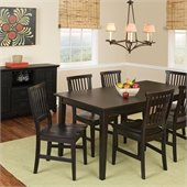 Home Styles Arts & Crafts Dining Table with 18 Leaf Set in Ebony