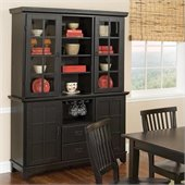 Home Styles Arts & Crafts Dining Buffet with Hutch in Ebony