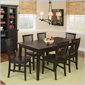 Home Styles Arts & Crafts Complete Dining Table Set in Ebony