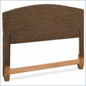 Home Styles Cabana Banana Natural Woven Textile Queen Headboard in Cocoa