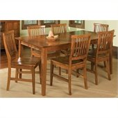 Home Styles Arts and Crafts 7 Piece Dining Set in Cottage Oak