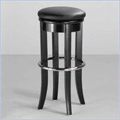 Home Styles 30 Upholstered Swivel Top Bar Stool in Black and Chrome