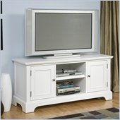 Home Styles Naples Center Console Entertainment Stand in White