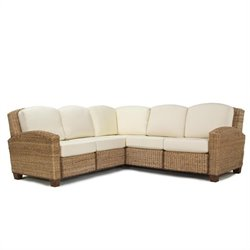 Home Styles Cabana Banana L-Shape Sectional Sofa in Honey