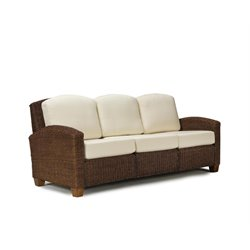 Home Styles Cabana Banana Three Seat Sofa in Cocoa