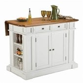 Home Styles Kitchen Island in White Finish